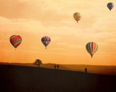 Hot Air Balloon Photography - The Journey Home