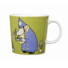 This green Moomin mug featuring the Inspector was released in 2009 and was elegantly illustrated by Tove Slotte-Elevant. Complete your collection of Moomin mugs with this lovely piece. Also see the other parts of the Moomin Inspector series.