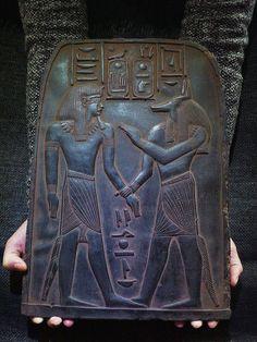 ANCIENT EGYPT EGYPTIAN ANTIQUE Tutankhamun Anubis Stela Relief 1213-1279 BC