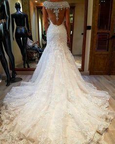 Bridal Inspiration, love the back detail. Its by Lebanese designer #ramisalamoun