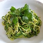 Zucchini Pasta with Almond Pesto. (Zucchini = courgette) Phases 2, 3 & 4.