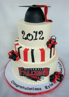 High School Graduation Cakes | Allendale High School Graduation Cake | Flickr - Photo Sharing!
