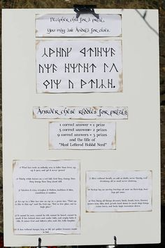 Hobbit Party - This is full of great ideas! There are a ton of party games and themed ideas.