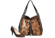 Bolso y zapato en color marrón a juego