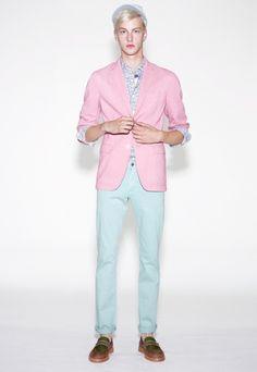 UNIQLO LifeWear Men's pink blazer