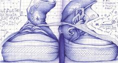 I really want to be able to draw like this with a ballpoint pen
