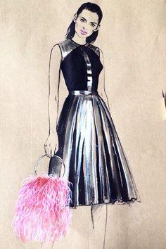Fashion illustration by diana kuksa fashion illustrator fashion sketch