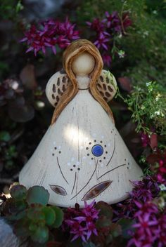 Zvonek - anděl keramika zvonek zvonky anděl andílek keramický andělé z keramiky keramick