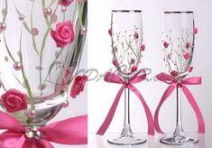copas novios rosas