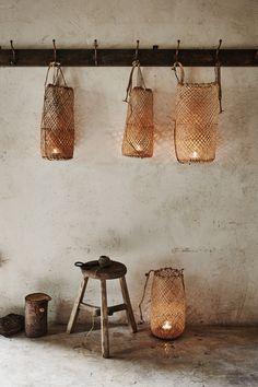 baskets | tea-lights