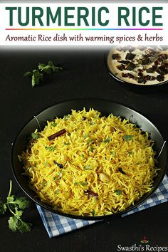 turmeric rice is a one pot rice dish made with basmati rice, turmeric, spices herbs. It pairs well with any curry or dal. Vegetarian Recipes Videos, Curry Recipes, Indian Food Recipes, Beef Recipes, Cooking Recipes, Ethnic Recipes, Cooking Dishes, Basmati Rice Recipes, Comida India