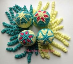 Deze inktvisjes zijn gemaakt door Marian Nijhuis.