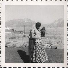 My love, somewhere in the desert. 1950s