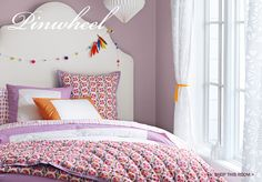 Wall color.  Girls Room Decor & Bedroom Furniture   Serena & Lily