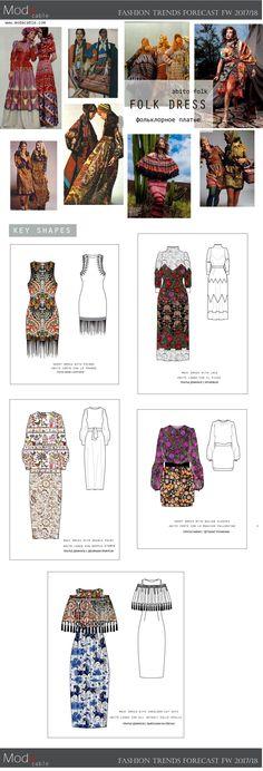FW 2017/18 fashion trends folk dress