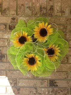 Sunflower Wreath by sandersnancy25, via Flickr