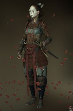 Samurai by Andres Naranjo > Realistic - posted January 2015 hi guys, a while ago I saw a character like this and I found it amazing, and try to create my own version of a samurai girl as a personal project. I hope you like it. Female Samurai, Female Armor, Samurai Armor, Fantasy Character Design, Character Concept, Character Inspiration, Character Art, Character Ideas, Dnd Characters