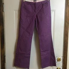 NWOT Size 6 Drew Fit Purple Slacks NWOT Size 6 Drew Fit Purple Slacks From The Limited Has some flare at end Is a darker shade of purple No wear or tear 97% cotton / 3% Spandex  Perfect for spring! Originally $79 Smoke and pet free home! Offers & Bundles always welcome! The Limited Pants