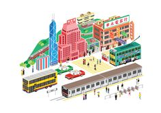 Overlooking HongKong Illustration on Behance