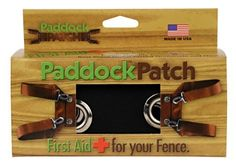 Paddock Patch Black by Paddock Patch. $29.95. Covers splintering boards. Helps reduce risk of fence injuries. The first instant fence repair product on the market. Fixes broken fence boards fast and easily. Keeps horses safe and contained until you're ready to replace boards. Paddock Patcha Fences often need fixing at the most inconvenient times--on the way to work, just before dark, or when no one is around to give a hand. Paddock Patcha is the solution for every fen...