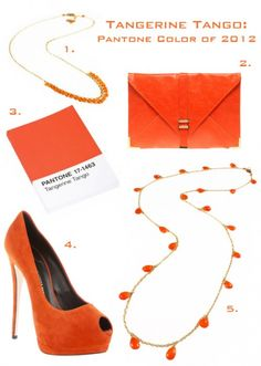 The Pantone color of 2012 is Tangerine - this tangerine style card features two necklaces by Dragonfly favorite (and local jewelry line) Lula Designs.