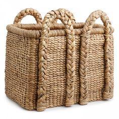 Seagrass Basket With Handles Rectangular