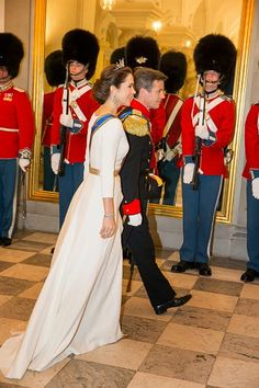 Royal Family Around the World: Dutch Royal couple in Denmark - State banquet at Christiansborg Palace on March 17, 2015 in Copenhagen, Denmark.