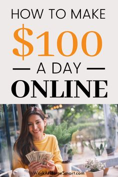 Make 100 A Day, Make Money Today, Ways To Earn Money, Way To Make Money, How To Make, Cash From Home, Earn Money From Home, Earn Money Online, Earn Extra Cash