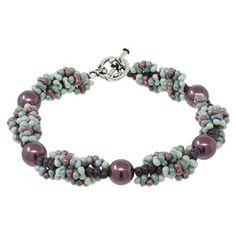 Spiral Garland Bracelet | Fusion Beads Inspiration Gallery - uses Peanut beads - would like in turquoise