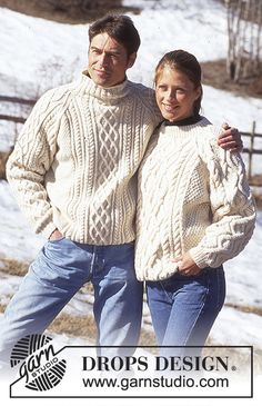 knitting jumper Hand knitted unisex jumper sweater aran style cable for men or women - ladies cable knit jumper - mens Aran sweater - knit jumper - S - L Sweater Knitting Patterns, Knitting Designs, Free Knitting, Crochet Patterns, Cable Knit Jumper Mens, Men Sweater, Jersey Jacquard, Aran Sweaters, Raglan Pullover