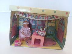 Mini Baby Born Geburtstags-/ Partyzimmer mit Torte, Ostern