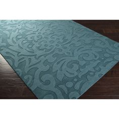 Surya Mystique Transitional Hand Loomed Wool Teal Blue x Area Rug Carters Furniture, Seaside Theme, Indoor Rugs, Carpet Tiles, Home Rugs, Accent Furniture, Teal Blue, Blue Area Rugs, Loom