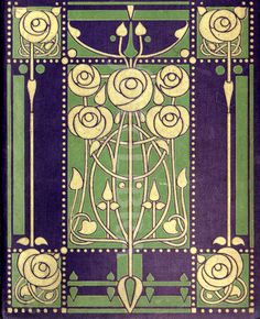 "artfromthefuture: "" An original highly-stylized Art Nouveau design for a book binding, by leading Glasgow School artist-designer Ethel Larcombe, c.1904-1906 """