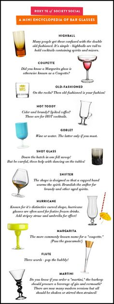 Bar glasses- and how to choose which one...