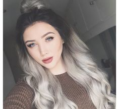 This is almost what my hair color would look like if I stopped dying it.
