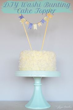 DIY Washi Bunting Cake Topper