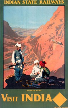 Global Gallery 'Visit India, Indian State Railways' by William Spencer Bagdatopoulus Framed Vintage Advertisement Size: Travel Ads, Travel And Tourism, Asia Travel, India Poster, National Railway Museum, Tourism Poster, Om Namah Shivaya, Railway Posters, Visit India
