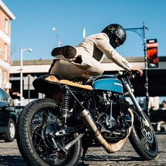 in the light brown linen Harris suit. Happy Summer, Spring Summer 2016, Cafe Racer Style, Summer Is Coming, Racing, Bike, Suits, Photo And Video, Brown