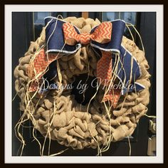 Autumn Burlap Bow Wreath, BR159