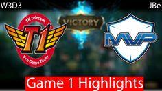 SKT vs MVP Game 1 Highlights W1D5