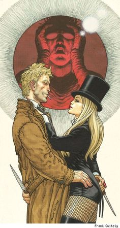 John Constantine and Zatanna by Frank Quitely