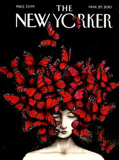 The New Yorker's tribute to Alexander McQueen (who had died a month earlier). Illustration: Ana Juan.