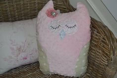 Owl Pillow Shabby chic pillow Nursery decor Baby by LyLyRosee, $20.00