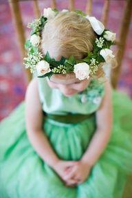 green flower girl dresses - Google Search