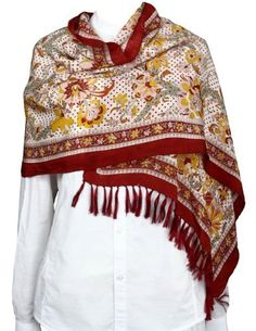 Hand Painted Silk Fashion Scarf Long Women Accessories Indian Clothing ShalinIndia, http://www.amazon.co.uk/dp/B00EIFQ4BM/ref=cm_sw_r_pi_dp_57Rksb0M3B5AH