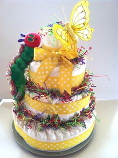 XLarge Very Hungry Caterpillar Diaper cake by MisoSweetBoutique, $65.00