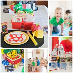 Colorful and Bright Back to School Party