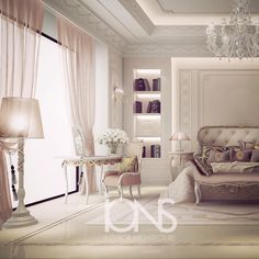 Bedroom design • Private villa • Dubai  #الدوحه #doha #qatar #dubai #uae…
