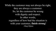 Customer Service - Finish Strong!