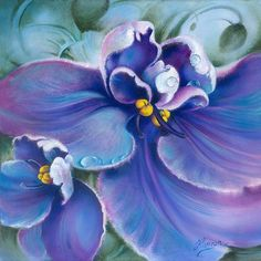"""""""The Violet"""" by Anna Miarczynska Painting - Oil On Canvas"""